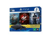 Console Sony PS4 500GB 2015A com 3 Jogos God Of War/GT/Uncharted