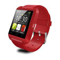 Relogio Smartwatch Touch Screen Capacitive Bluetooth USB Vermelho