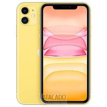 "Celular Apple iPhone 11 A2221 BZ 128GB / 4G Lte / Tela 6.1"" / Cameras de 12MP + 12MP e 12MP - Amarelo"