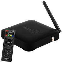 Receptor Fta Nazabox NZ TV2 4K Ultra HD Wi-Fi Iptv - Preto