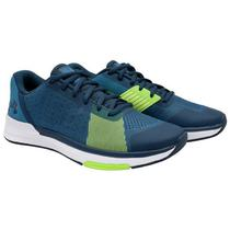 Tenis Under Armour Showstopper Masculino N 8 - Azul/Verde