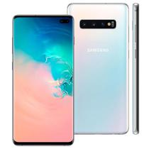 "Smartphone Samsung Galaxy S10 Plus G975F Dual Chip Tela 6.4"" 8 GB Ram 128 Rom Camera 12MP+16MP+12MP+10MP - Branco"