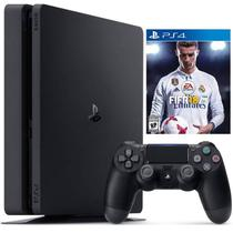 Sony Playstation 4 500GB CUH-2115 Americano Bivolt+ Jogo Fifa 2018 Bundle Recondicionado