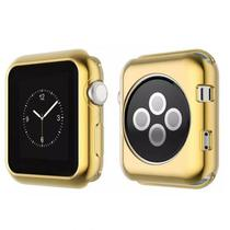Capa Protetora Flexivel 4LIFE para Apple Watch 42MM Dourado